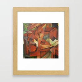Foxes - Homage to Franz Marc (1913) Framed Art Print