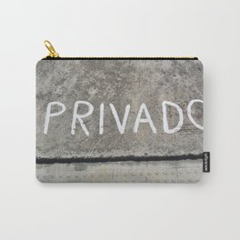 Privacy text on the road Carry-All Pouch