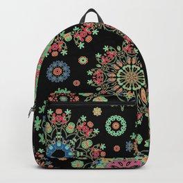 Colorful snowfall Backpack