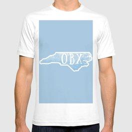 Outer Banks North Carolina Watercolor Map State Beach NC T-shirt