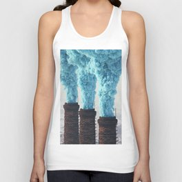 Blue Pollution Unisex Tank Top