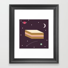 Ham & Cheese in Space Framed Art Print