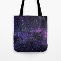 cosmic Tote Bags featuring Cosmic by Marta Olga Klara