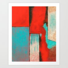The Corners of My Mind, Abstract Art Painting Art Print
