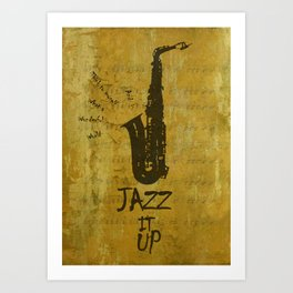 Letter J - Jazz  quote poster Art Print