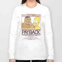 simpson Long Sleeve T-shirts featuring Tatum vs Simpson: Payback by Hitsville
