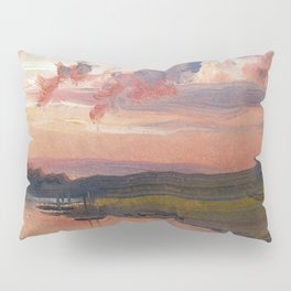 Johan Christian Dahl The Elbe in the Evening Pillow Sham