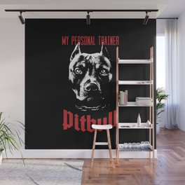 Pitbull My Personal Trainer Wall Mural