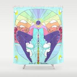 Mother Tarot: Queen of Pentacles Shower Curtain