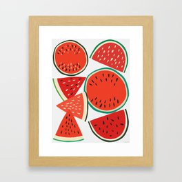 Sliced Watermelon Framed Art Print