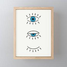 Summer Evil Eyes Framed Mini Art Print