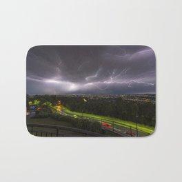 Summer Storm Over Brisbane Bath Mat