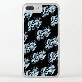 Palm Leaves Pattern #6 #SkyBlue #Black #decor #art #society6 Clear iPhone Case