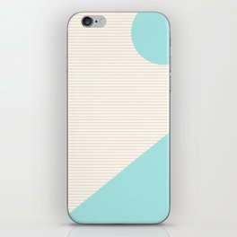 Lines and Shapes in Light Pink and Aqua Blue iPhone Skin