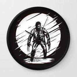 Logan Glitch art Wall Clock