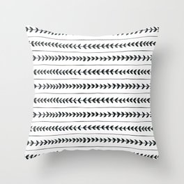 Laurel stripe - back and forth Throw Pillow