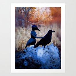Crow People Art Print
