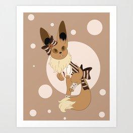 Little Steampunk Fox Art Print
