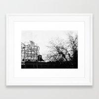 portlandia Framed Art Prints featuring Portlandia - White Stag Sign by Kyle J. Glenn