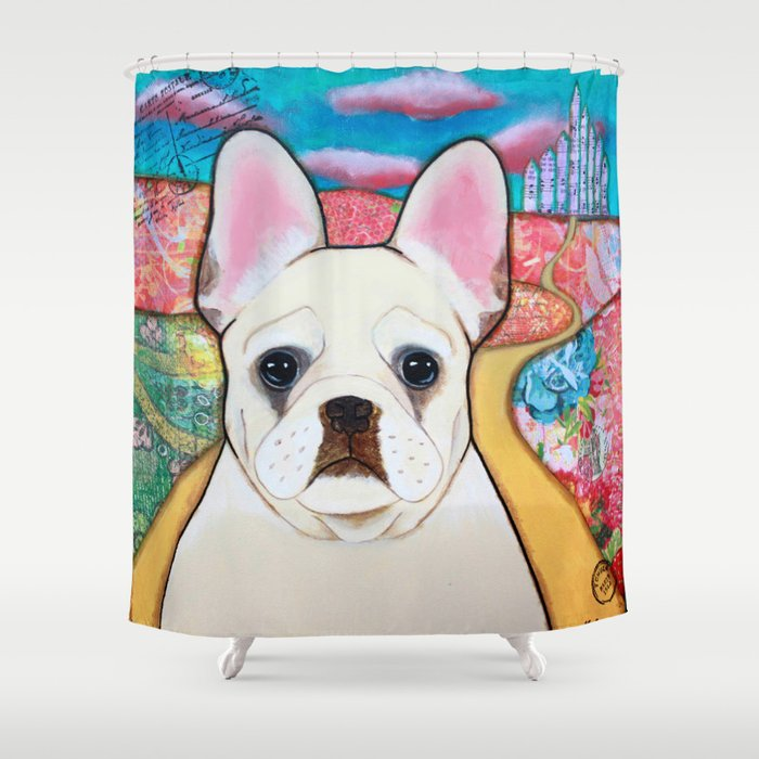 French Bulldog Shower Curtain By Twodancingcrows