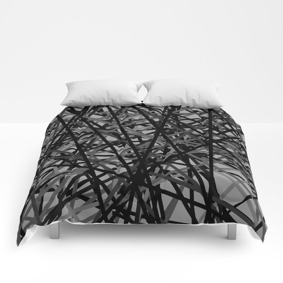 Kerplunk Extended Black and White Comforters