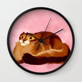 Irritated cat Wall Clock