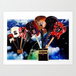 Hot Air Guitar Art Print
