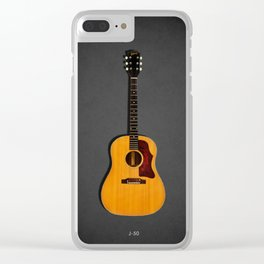 The J-50 Acoustic Guitar Clear iPhone Case