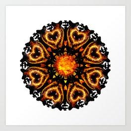 hell mandala Art Print