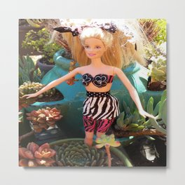 Jungle Barbie Metal Print