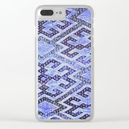 Blue Oriental Rug Clear iPhone Case