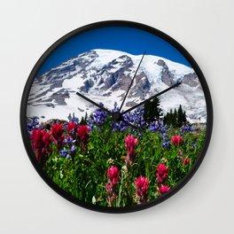 Mountain Wildflower Panoramic Wall Clock