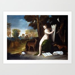 Dosso Dossi Circe and her Lovers in a Landscape Art Print