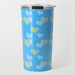 Cotton Candy with Hearts Travel Mug