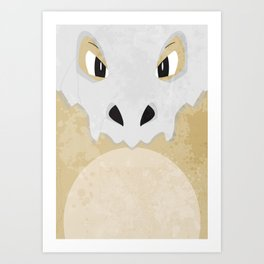 Minimalist Cubone Art Print