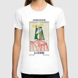 Pablo Picasso Exhibition Art Poster - Buste de Femme T-shirt