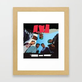 Straight Out Framed Art Print