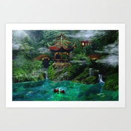 Tale of the Red Swans Art Print