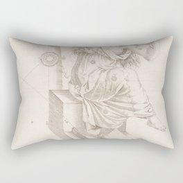 Johann Bayer - Uranometria / Measuring the Heavens (1661) - 10 Cassiopeia Rectangular Pillow
