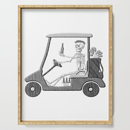 Forever Golfing Funny design For Golf Lover Serving Tray