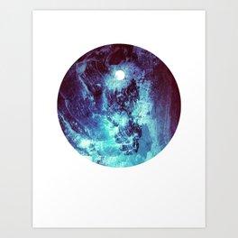 Ocean Moon // Blue Planet // Cerulean Solar Orb Art Print