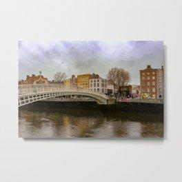 Dublin Ireland - HaPEnny Bridge Metal Print