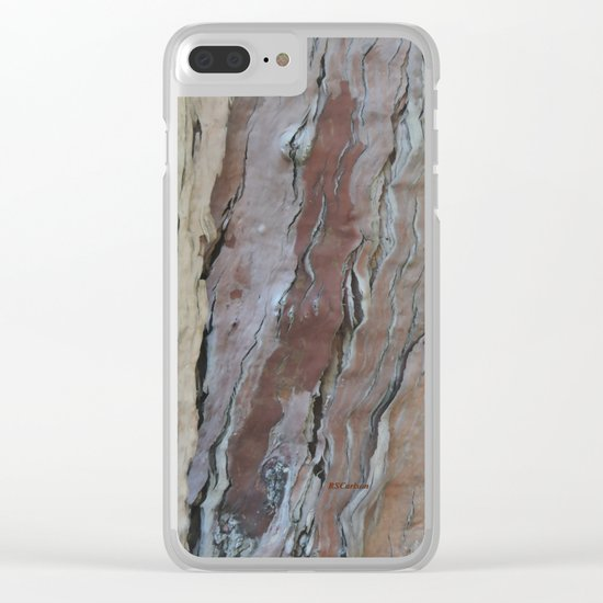 TEXTURES -- Fern-Leaved Ironwood Bark Clear iPhone Case