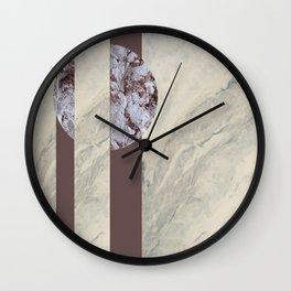 geometric marble Wall Clock