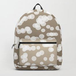 Blurry Lights: Beige (Khaki) Backpack