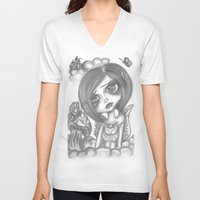 broken V-neck T-shirts featuring Broken by LianneAdelleArt