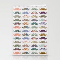 frame Stationery Cards featuring Mustache Mania by Bianca Green