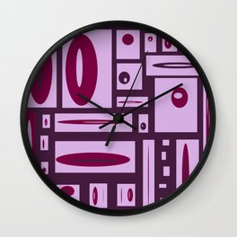 Fun With Creating Purple Play #decor #buyart #society6 Wall Clock