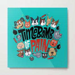 Time Bomb of Pain Metal Print