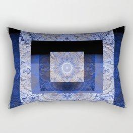 Meditation Mind Soothing Sacred Geometric Healing Print Rectangular Pillow